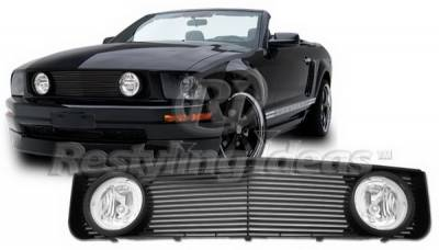 Restyling Ideas - Ford Mustang Restyling Ideas Grille - 72-GF-MUS05VGL-BK