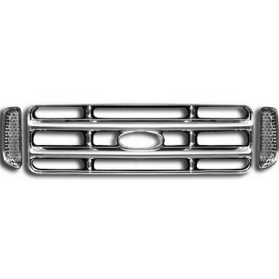 Restyling Ideas - Ford Superduty Restyling Ideas Overlay Grille - 72-GI-FOF2599-22