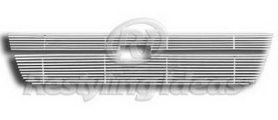 Restyling Ideas - Chevrolet Silverado Restyling Ideas Upper Grille -Stainless Steel Chrome Plated Billet - 72-SB-CHSILHD05-T