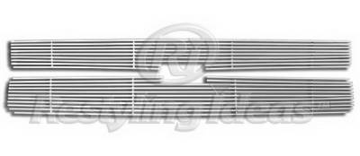 Restyling Ideas - Chevrolet Silverado Restyling Ideas Upper Grille -Stainless Steel Chrome Plated Billet - 72-SB-CHSILHD07-T