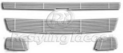 Restyling Ideas - Chevrolet Tahoe Restyling Ideas Upper Grille -Stainless Steel Chrome Plated Billet - 72-SB-CHTAH07-T
