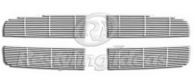 Restyling Ideas - Dodge Ram Restyling Ideas Upper Grille -Stainless Steel Chrome Plated Billet - 72-SB-DORAM02-T