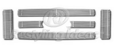 Restyling Ideas - Ford Superduty Restyling Ideas Upper Grille -Stainless Steel Chrome Plated Billet - 72-SB-FOF2508-T
