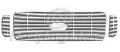 Restyling Ideas - Ford Superduty Restyling Ideas Upper Grille -Stainless Steel Chrome Plated Billet - 72-SB-FOF2599-T