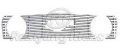 Restyling Ideas - Ford Mustang Restyling Ideas Upper Grille -Stainless Steel Billet - 72-SB-FOMUS05GT-T-NC