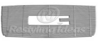 Restyling Ideas - GMC Sierra Restyling Ideas Upper Grille -Stainless Steel Chrome Plated Billet - 72-SB-GMSIEHD07-T