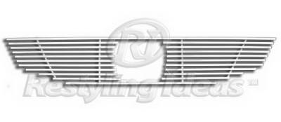 Restyling Ideas - Honda Accord 2DR Restyling Ideas Upper Grille -Stainless Steel Chrome Plated Billet - 72-SB-HOACC082-T