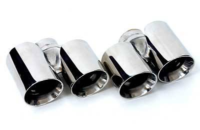 FabSpeed - Dual Round QUAD Muffler Tips