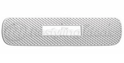 Restyling Ideas - GMC Sierra Restyling Ideas Oval Upper Punch Grille - Stainless Steel Chrome Plated - 72-SD-GMSIE99O