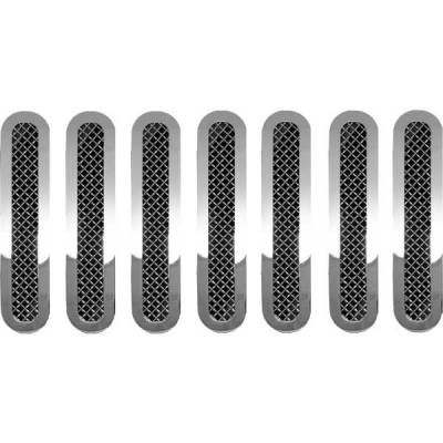 Restyling Ideas - Jeep Wrangler Restyling Ideas Knitted Mesh Grille - 72-SM-JEWRA07-T