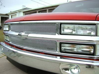 Grillcraft - Chevrolet Silverado MX Series Silver Upper Grille - 2PC - CHE-1450-S