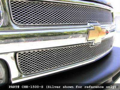 Grillcraft - Chevrolet Silverado MX Series Black Upper Grille - 2PC - CHE-1500-B