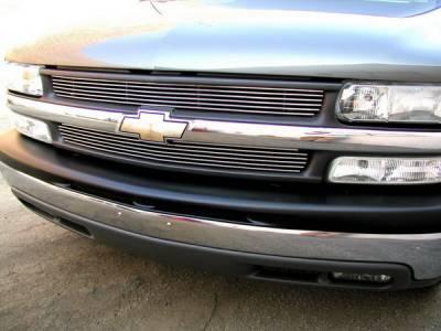 Grillcraft - Chevrolet Silverado BG Series Black Billet Upper Grille - 2PC - CHE-1500-BAC
