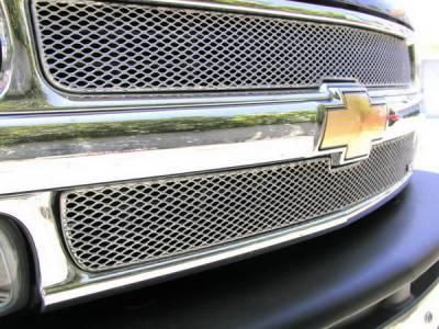 Grillcraft - Chevrolet Silverado MX Series Silver Upper Grille - 2PC - CHE-1500-S