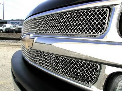 Grillcraft - Chevrolet Silverado SW Series Black Upper Insert Grille - CHE-1500-SW