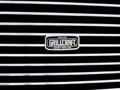 Grillcraft - Chevrolet Silverado BG Series Black Billet Bumper Grille - 2PC - CHE-1502-BAC