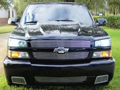 Grillcraft - Chevrolet Silverado BG Series Black Billet Upper Grille - 2PC - CHE-1505-BAC