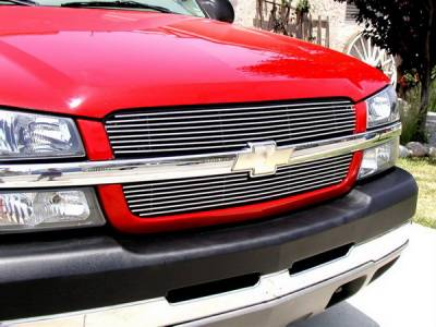 Grillcraft - Chevrolet Silverado BG Series Black Billet Upper Grille - 2PC - CHE-1505-BAO