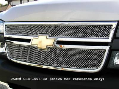 Grillcraft - Chevrolet Avalanche SW Series Black Upper Grille - CHE-1505-SW