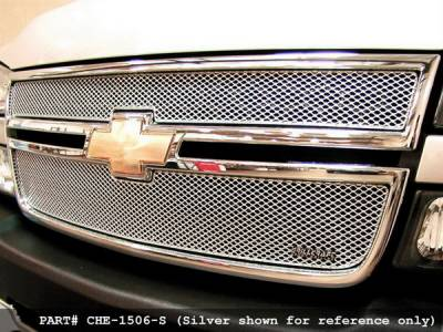 Grillcraft - Chevrolet Silverado MX Series Black Upper Grille - 2PC - CHE-1506-B