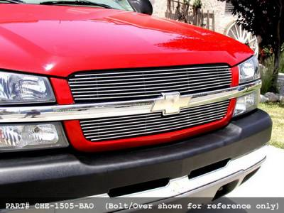 Grillcraft - Chevrolet Silverado BG Series Black Billet Upper Grille - 2PC - CHE-1506-BAO