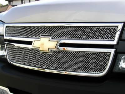 Grillcraft - Chevrolet Silverado SW Series Black Upper Insert Grille - CHE-1506-SW