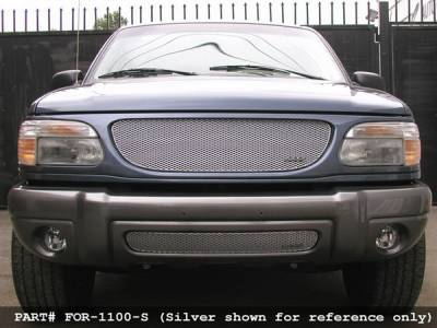 Grillcraft - Ford Explorer MX Series Black Upper Grille - FOR-1100-B