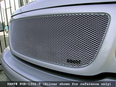 Grillcraft - Ford F150 MX Series Black Upper Grille - FOR-1302-B