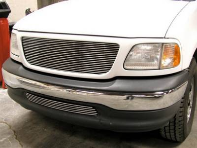 Grillcraft - Ford F150 BG Series Black Billet Bumper Grille - FOR-1304-BAC
