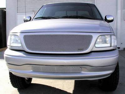 Grillcraft - Ford F150 MX Series Silver Bumper Insert Grille - FOR-1304-S