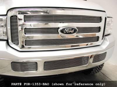 Grillcraft - Ford Excursion BG Series Black Billet Bumper Grille - FOR-1354-BAO