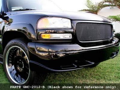 Grillcraft - GMC Sierra MX Series Black Upper Grille - GMC-2010-B