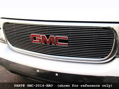 Grillcraft - GMC Sierra BG Series Black Billet Upper Grille - With Logo Cut Out - GMC-2010-BAO