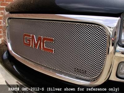 Grillcraft - GMC Sierra MX Series Silver Upper Grille - GMC-2010-S