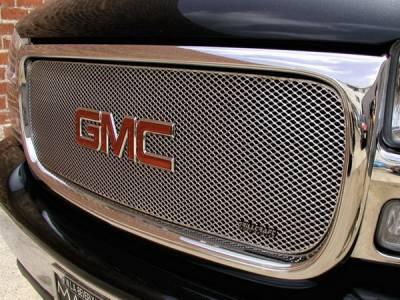 Grillcraft - GMC Sierra MX Series Silver Upper Grille - GMC-2012-S