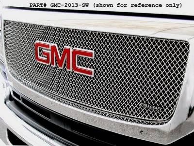 Grillcraft - GMC Sierra SW Series Black Upper Grille - GMC-2012-SW