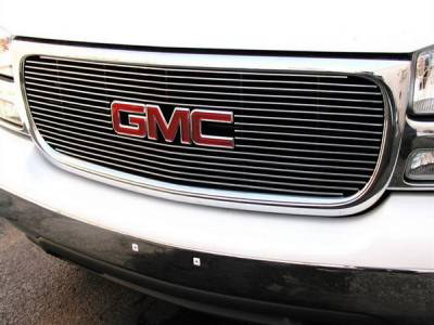 Grillcraft - GMC Sierra BG Series Black Billet Upper Grille - With Logo Cut Out - GMC-2014-BAO