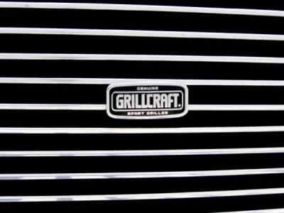 Grillcraft - GMC Denali BG Series Black Billet Upper Grille - Without Logo Cut Out - GMC-2026-BAO