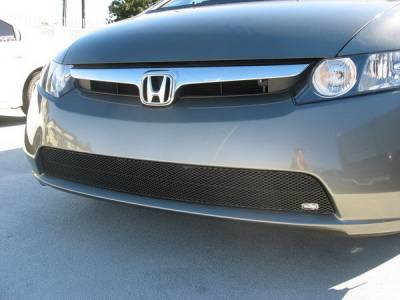 Grillcraft - Honda Civic 4DR MX Series Silver Lower Grille - HON-1147-S