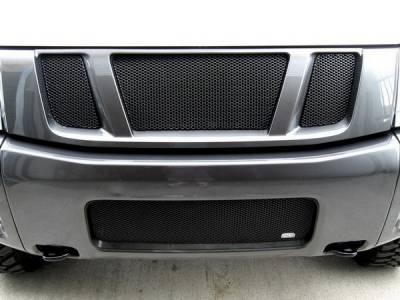 Grillcraft - Nissan Armada MX Series Black Upper Grille - 3PC - NIS-1550-B