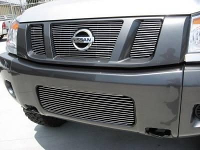 Grillcraft - Nissan Armada BG Series Black Billet Bumper Grille - NIS-1551-BAC