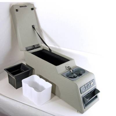 Omix - Rugged Ridge Locking Console - Gray - 31511