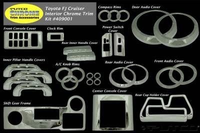 Putco - Toyota FJ Cruiser Putco Interior Chrome Accessory Kit - 34PC - 409001