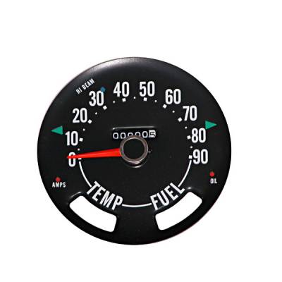 Omix - Omix Speedometer Head withoutdometer - 0-90 MPH - 17207-01