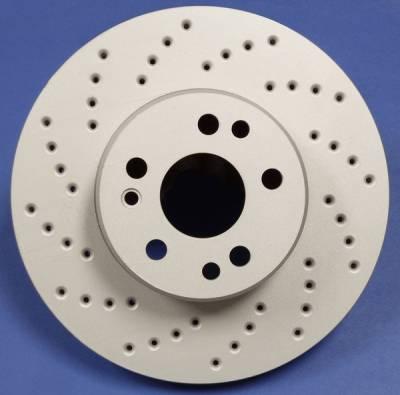 SP Performance - Infiniti M30 SP Performance Cross Drilled Solid Rear Rotors - C32-6454
