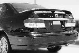 DAR Spoilers - Infiniti G20 DAR Spoilers OEM Look 3 Post Wing w/ Light ABS-313