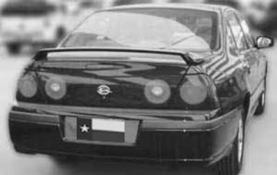 DAR Spoilers - Chevrolet Impala DAR Spoilers OEM Look 3 Post Wing w/o Light ABS-503