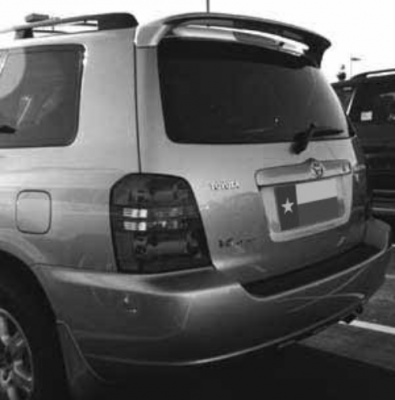 DAR Spoilers - Toyota Highlander DAR Spoilers OEM Look Roof Wing w/o Light ABS-537