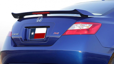 "DAR Spoilers - Honda Civic 2Dr ""Si"" DAR Spoilers OEM Look 3 Post Wing w/ Light ABS-539"