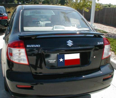 DAR Spoilers - Suzuki SX-4 DAR Spoilers Custom 3 Post Wing w/ Light ABS-707